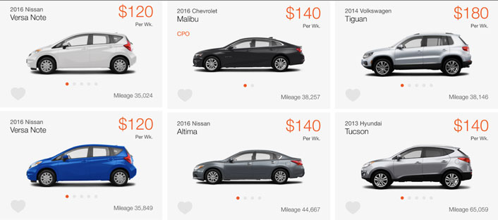 car rental for uber prices