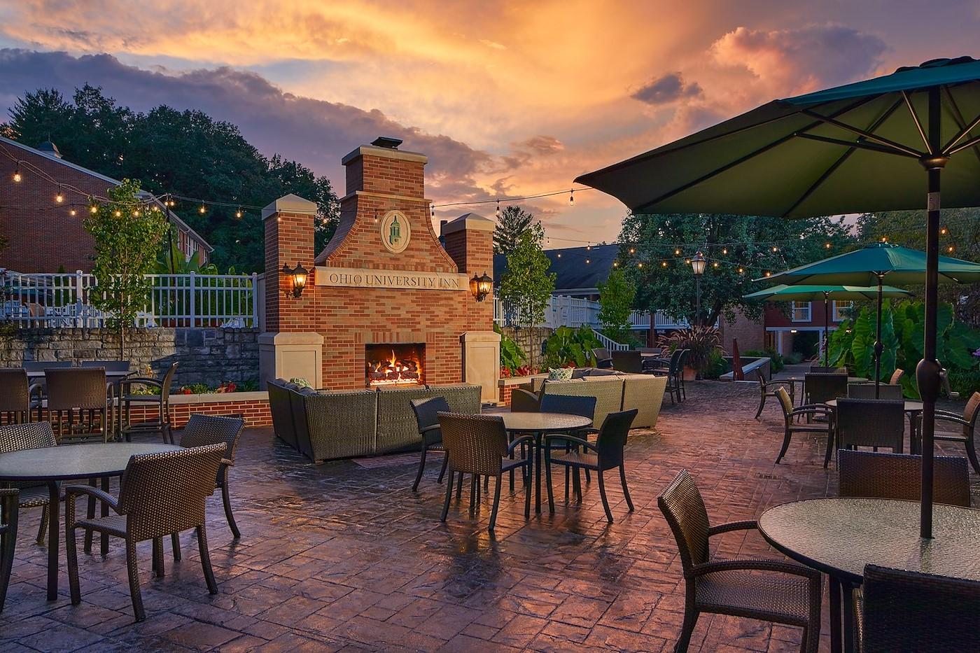 Cutler's romantic ambience on the campus of Ohio University Inn