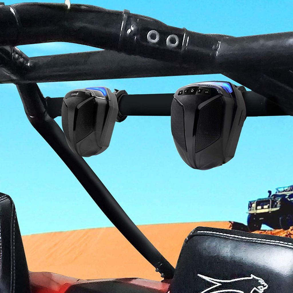 "GoHawk ATN4 All-in-One Built-in Amplifier Waterproof 5"" Full Range Bluetooth ATV RZR UTV Stereo Speakers"
