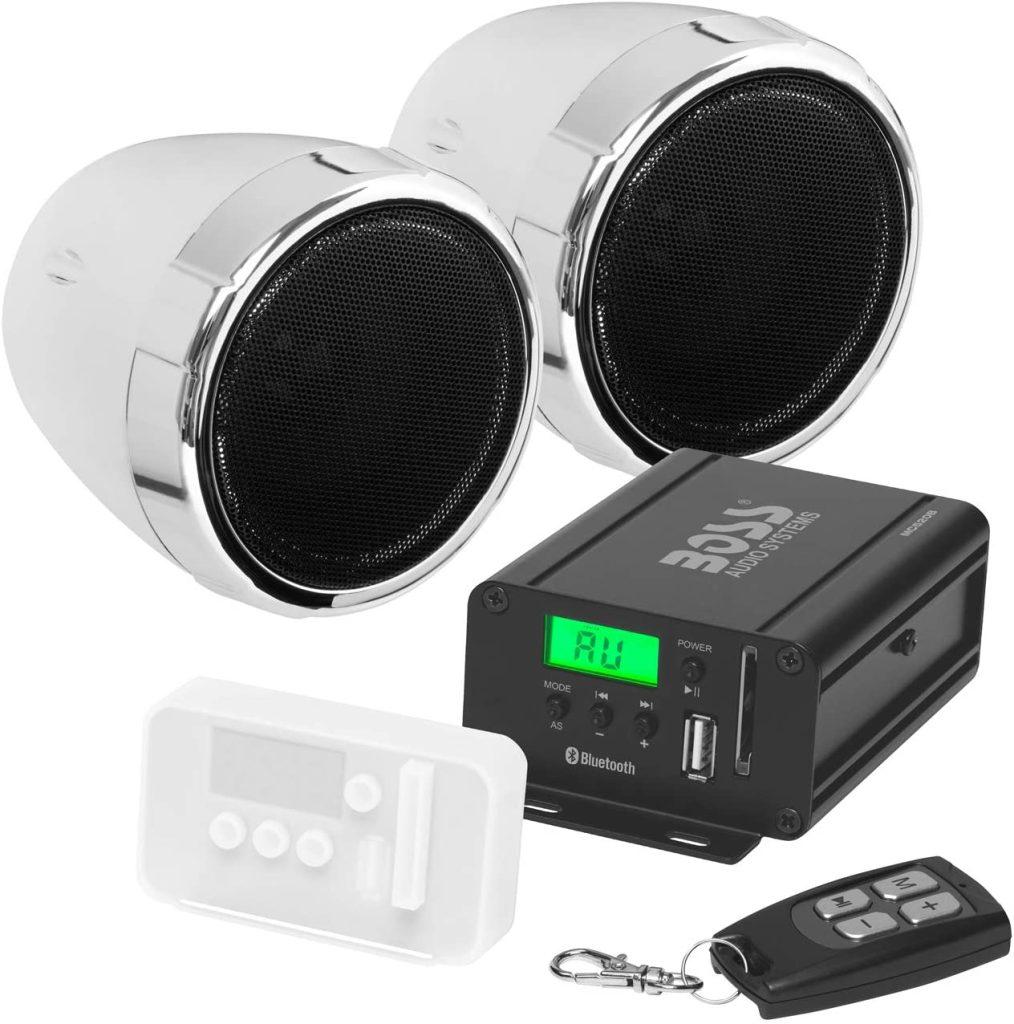 Boss Audio Systems MCBK420B Motorcycle Bluetooth Speaker System - best bluetooth motorcycle speakers