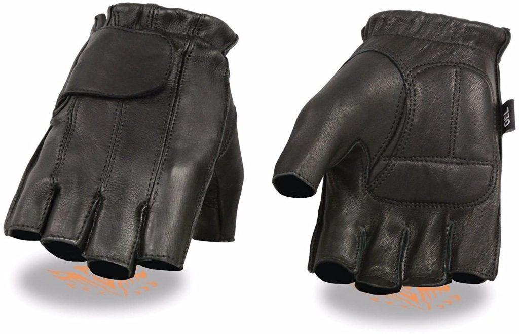 Best Short Cuff Summer Motorcycle Gloves: American Deer Skin Fingerless Gloves