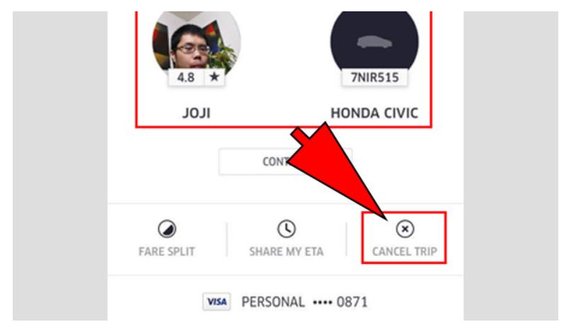 cancel uber ride