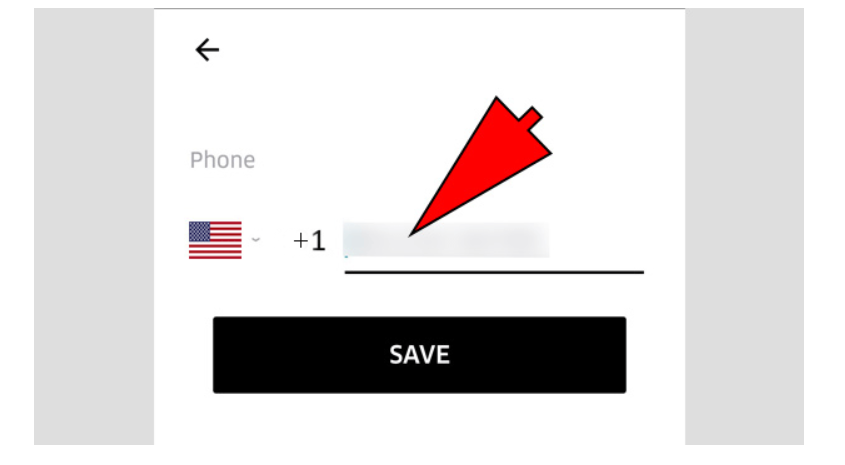 how to change number on uber
