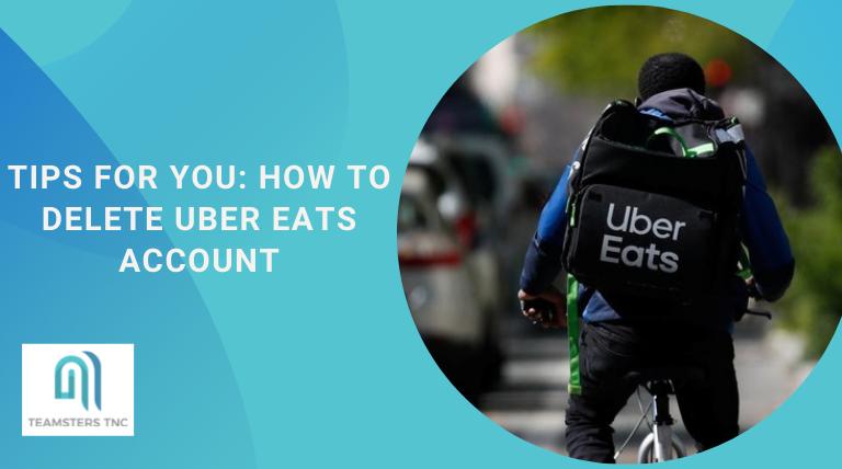 how to delete uber eats account