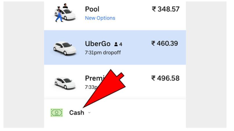 uber registration without credit card